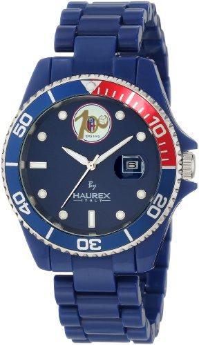 Haurex Italy BC339UBC - Reloj analógico de cuarzo para hombre con correa de plástico, color azul