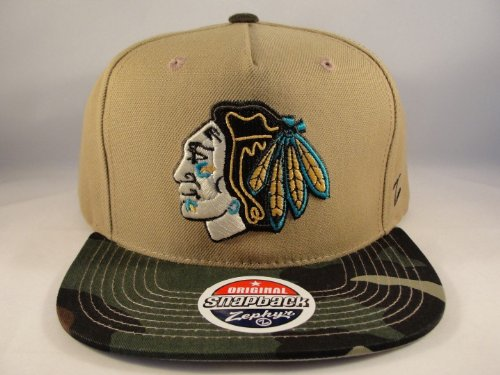 NHL Chicago Blackhawks Zephyr Snapback Hat Cap Zuni Camo Brim at Amazon.com