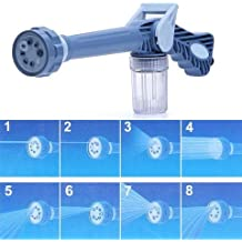 BERRY EZ Water Jet Canon For Bike Car Washing (With Inbuilt 8 Nozzle Function) (No Electricity Required) Blue