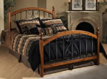 Big Sale Hillsdale Furniture 1258BQR Burton Way Bed Set with Rails, Queen, Cherry