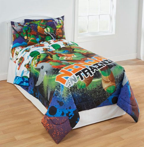 TMNT Ninja Turtles Training 4pc Twin Bedding Set (Tmnt Ninjas In Training compare prices)