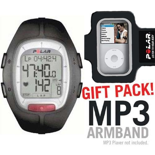 Cheap Polar RS100 Heart Rate Monitor Black with MP3 Armband (B003KIZ950)