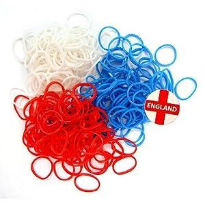 Jacks - Bracelet Pack - Recharge Elastiques à Tisser Couleurs Bleu Blanc Rouge