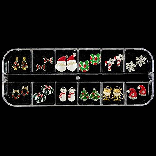 クリスマス 合金パーツ デコ ネイル用 12種類×各2個ケース入