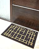 Athom Trendz Printed Anti Skid Nylon Door Mat - Brown