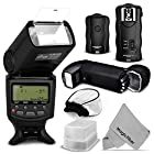 Essential Flash Kit for NIKON DSLR D7100 D7000 D5300 D5200 D5100 D5000 D3300 D3200 D3100 - Includes: Altura Photo I-TTL Auto-Focus Dedicated Flash + Wireless Camera Flash Trigger and Camera Remote Control Function + Cable-M Cord for Remote Control + Protective Pouch + Hard Flash Diffuser + Soft Flash Diffuser + MagicFiber Microfiber Lens Cleaning Cloth