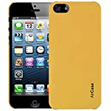 Airplus Aircase Glossy Finish Back Case with Screen Protector for Apple iPhone 5/5S (Solar Yellow)