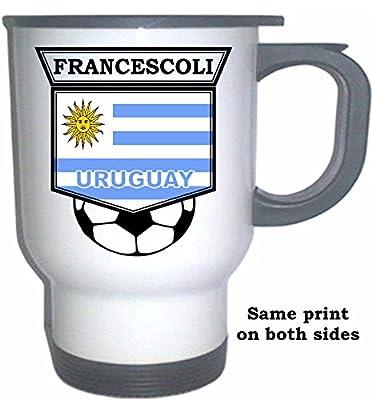 Enzo Francescoli (Uruguay) Soccer White Stainless Steel Mug