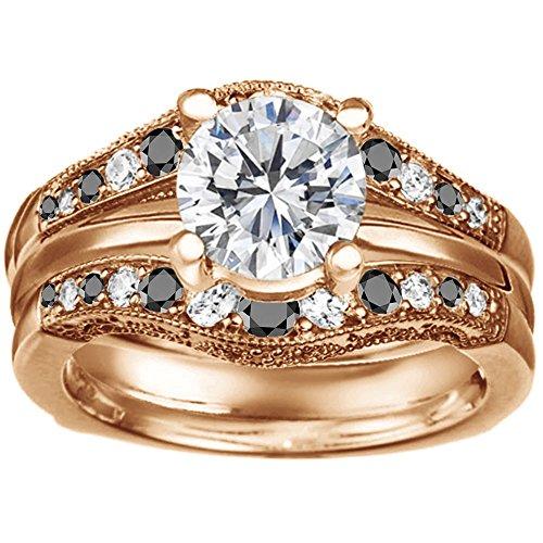 Wedding Ring Guard & 1 Carat CZ Solitaire