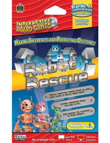 Teacher Created Resources Robot Rescue Interactive Board Game Cd (7849)