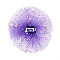 Hortense B Hewitt Tulle Flower Decorations, 5 Count, Purple
