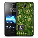 Head Case Green Circuit Board Protective Back Case Cover For Sony Xperia T LT30P