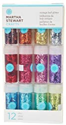 Martha Stewart Crafts Chunky Iridescent Glitter, 12-Package