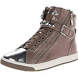 Michael Michael Kors Glam Studded High Top Sneakers Dark Cement
