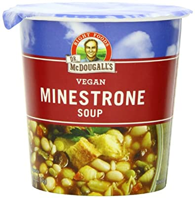Dr. McDougall's Right Foods Vegan Minestrone & Pasta Soup, 2.3-Ounce Cups (Pack of 6) from Dr. McDougall's Right Foods