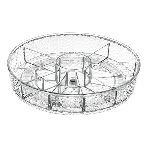InterDesign Lazy Susan Turntable Cosmetic Organizer for Vanity Cabinet to Hold Makeup, Beauty Products - Clear