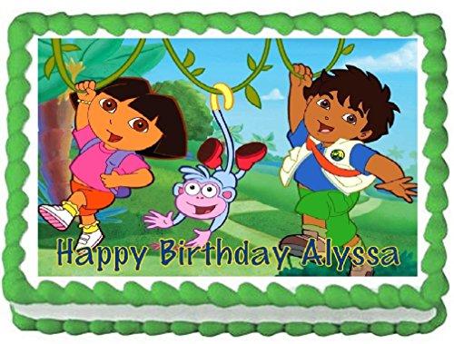 Dora Birthday Cake Toppers Dora Cupcake Rings We Buy Cheaper - Dora birthday cake toppers