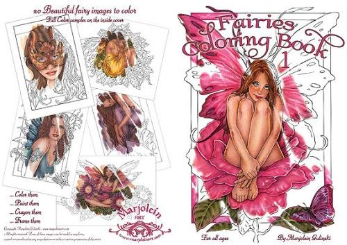 Marjolein Gulinski Fairies Coloring Book #1 Pink