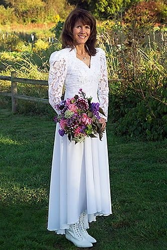 Lace Princess Neckline Wedding Dress