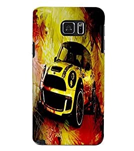 Fuson 3D Printed Car Designer back case cover for Samsung Galaxy Note 5 - D4480