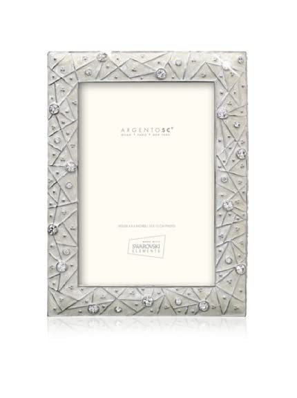 Swarovski by Argento SC Lattice Picture Frame, Ivory, 4