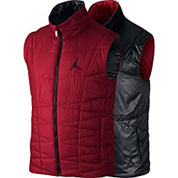Jordan Padded Reversible Men\'s Vest Red/Anthracite-Black 545949-606 (Size 3X)