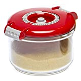 RODAK, Professional Heavy Duty Vacuum Storage Kitchen Container 0.75 L Round Red Direct Import From The EU