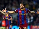 SD5153 Dani Alves Goal Celebration Barcelona FC 24x18 Print POSTER