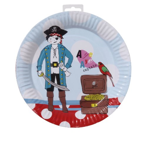 TALKING TABLES PIRATE PARTY 8-Pack Plate - 1