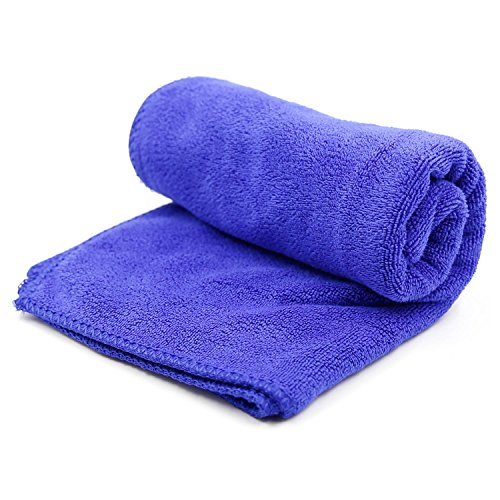 EiffelT Microfiber Pet Bath Towels Super Absorbent and Fast Drying For Cleaning Dogs & Cats (Blue)