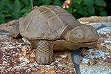 "Large 12"" Cast Iron Turtle Hide a Key Hinged Tortoise Doorstop Yard Decor"