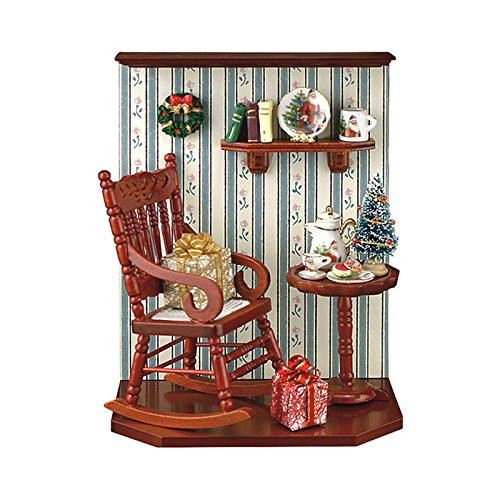 Alexander Taron Home Seasonal Décorative Accessories Reutter Porzellan Miniature Christmas Room – 6.1″H x 2.8″W x 4.6″D