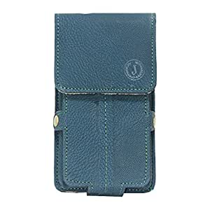 Jo Jo A6 G8 Series Leather Pouch Holster Case For Spice Stellar 518 Dark Blue
