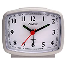 Advance White Electric QA Alarm Clock