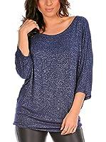 La Belle Parisienne Camiseta Manga Larga Mathilde (Azul Marino)