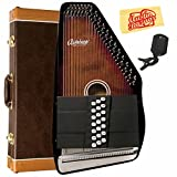 Oscar Schmidt OSC-OS21C Autoharp Bundle with Hard Case, Tuner, and Polishing Cloth
