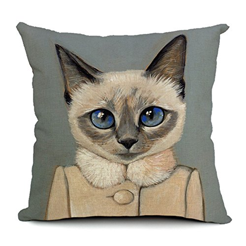 """Vintage Style Mr And Mrs Cat Throw Pillowcase Pillow Cover Decorative Pillow Cover 18""""*18"""" (4)"""