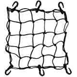 "Heavy-Duty 15"" Cargo Net for Motorcycles, ATVs - Stretches to 30"" (Black)"
