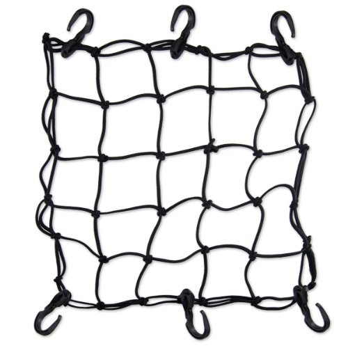 Buy Low Price Premium Bike Bungee Cargo Net – X-Thick Cord – 6 Hooks (74520-BK-CARGONET)