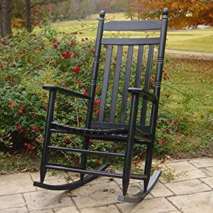 Adult Slat Porch Rocking Chair Finish: Black by Dixie Seating Company