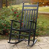 Adult Indoor/Outdoor Rocking Chair (RTA) Finish: Black