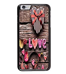 Fuson Premium 2D Back Case Cover Love With Pink Background Degined For Apple iPhone 6S