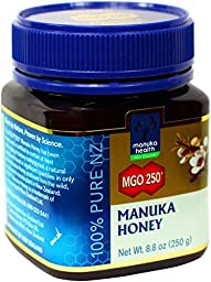 Manuka Health - MGO 250+ Manuka Honey, 100% Pure New Zealand Honey, 8.75 oz (250 g)