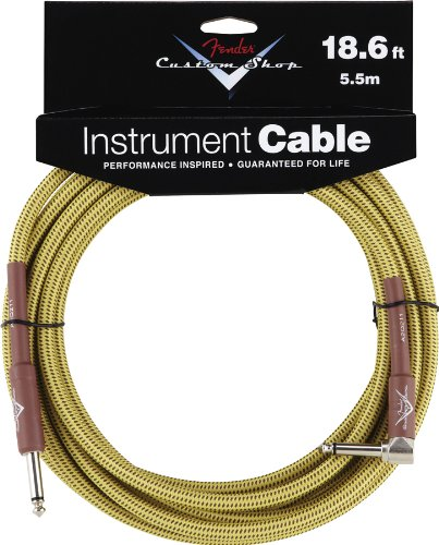 Fender Accessories 099-0820-031 Performance Series 18.6 Feet Right Angle Instrument Cable - Tweed
