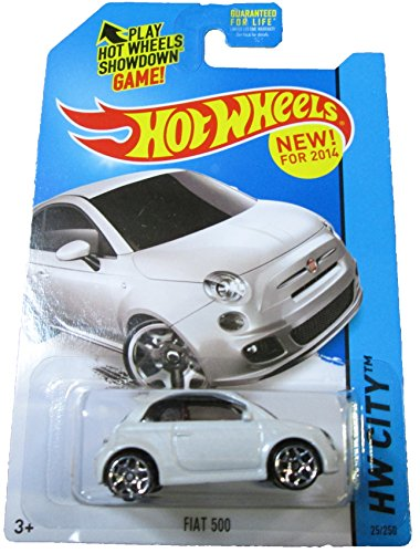 2014 Hot Wheels Hw City - Fiat 500 - White - 1