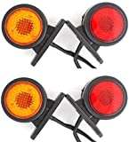 4x Rouge & Blanc Côté arrière tracé Marqueur Ampoules 24V Van Camion Remorque Carav