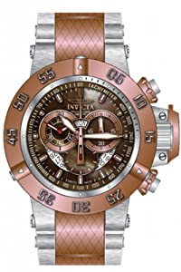 Invicta Men's 80504 Subaqua Quartz 3 Hand Brown Dial Watch
