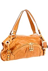 B. MAKOWSKY  Brasilia Shoulder Bag,Nutmeg,One Size