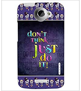 PrintDhaba Quote D-4135 Back Case Cover for HTC ONE X (Multi-Coloured)