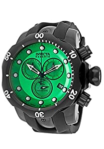 Invicta Men's 12464 Venom Reserve Chronograph Green Dial Black Polyurethane Watch